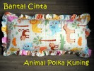 Bantal Cinta Animal Polka Kuning