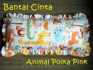 Bantal Cinta Animal Polka Pink