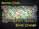 Bantal Cinta Birds Orange