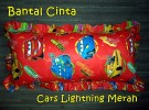 Bantal Cinta Cars Lightning Merah