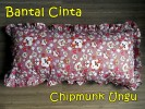 Bantal Cinta Chipmunk Ungu