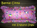Bantal Cinta Hello Kitty England Ungu