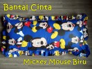 Bantal Cinta Mickey Mouse Biru