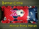 Bantal Cinta Minnie Polka Merah
