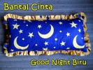 Bantal Cinta Good Night Biru
