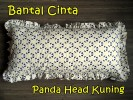 Bantal Cinta Panda Head Kuning